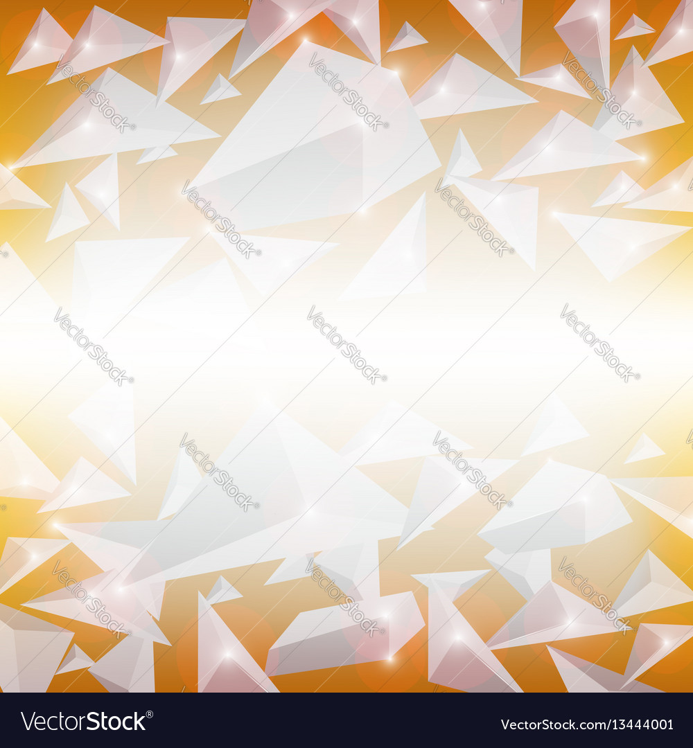 Blue crystal pattern explosion of stone particles vector image