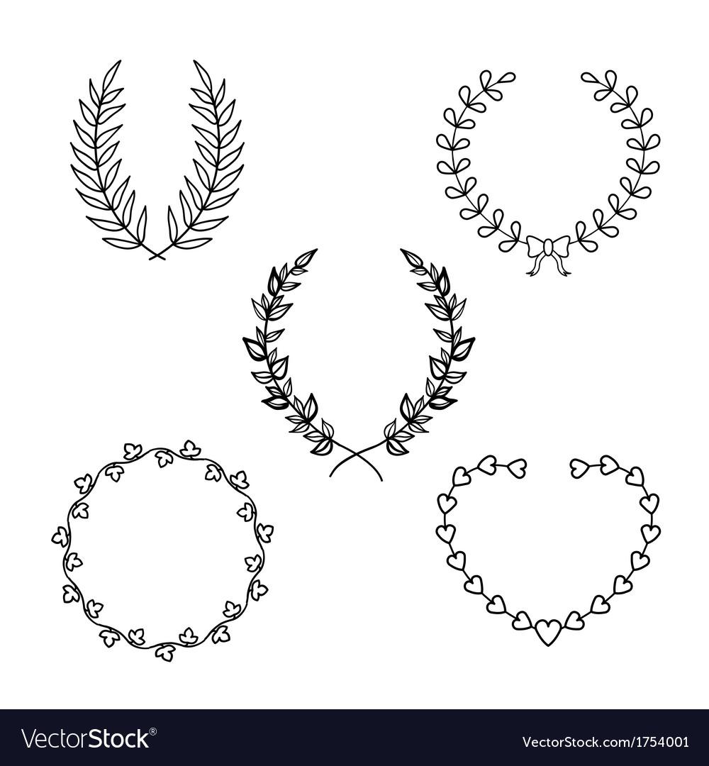 Calligraphic wreath