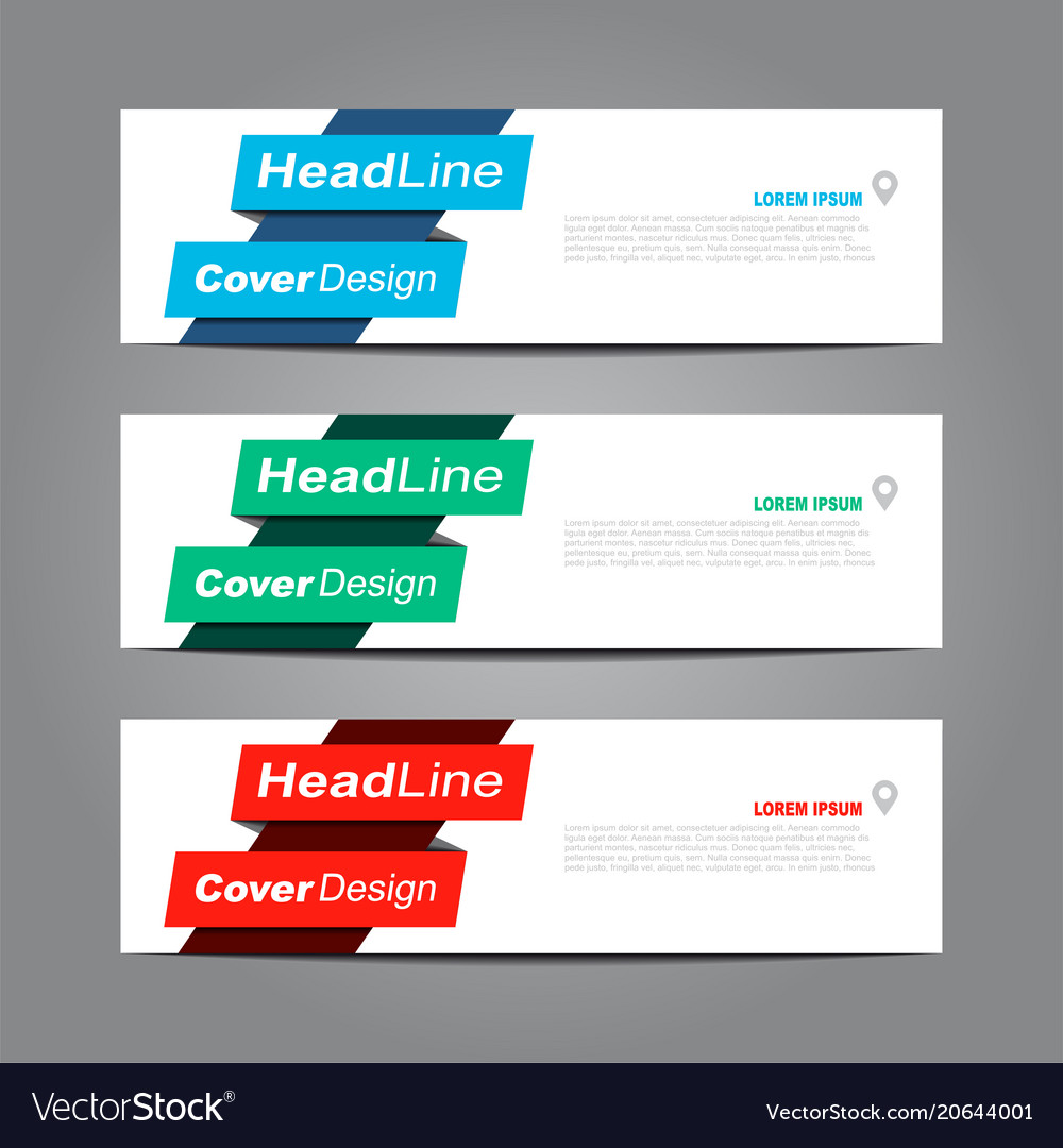 design horizontal template flyer banner royalty free vector