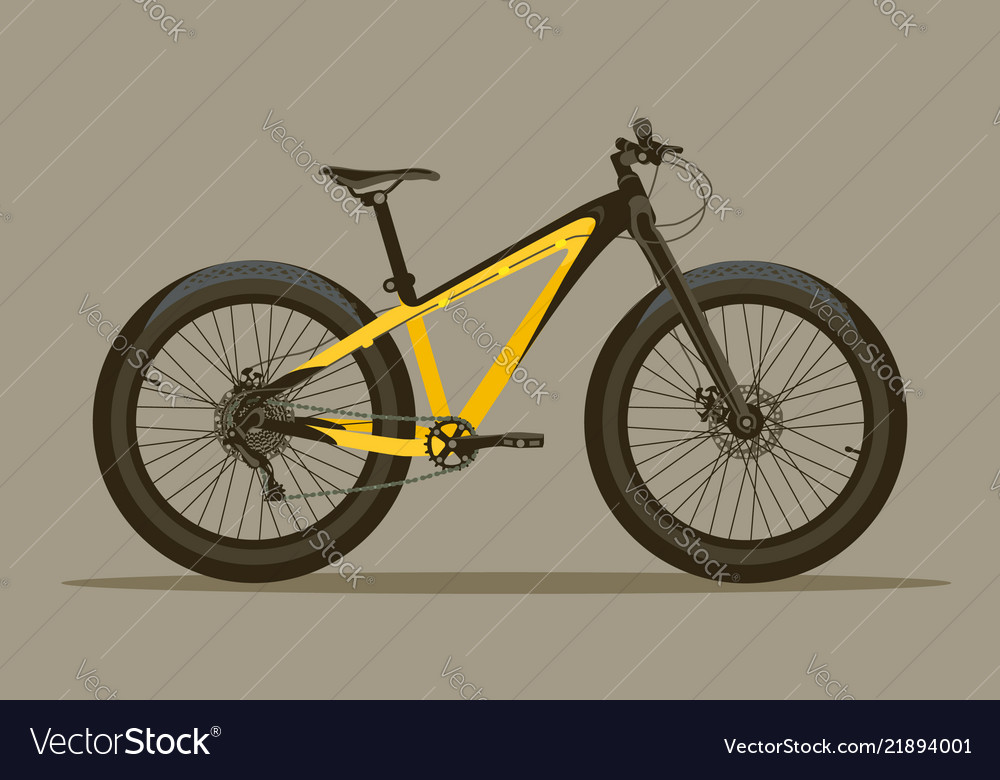 Detailed bicycle with thick tires