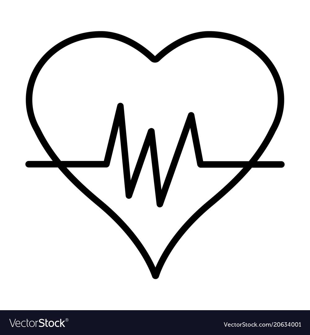 Heartbeat line icon simple 96x96 pictogram