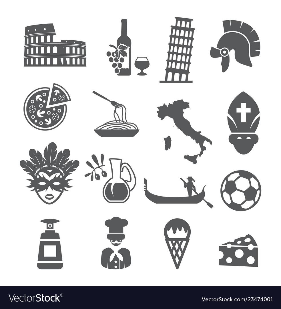 Italy icons set