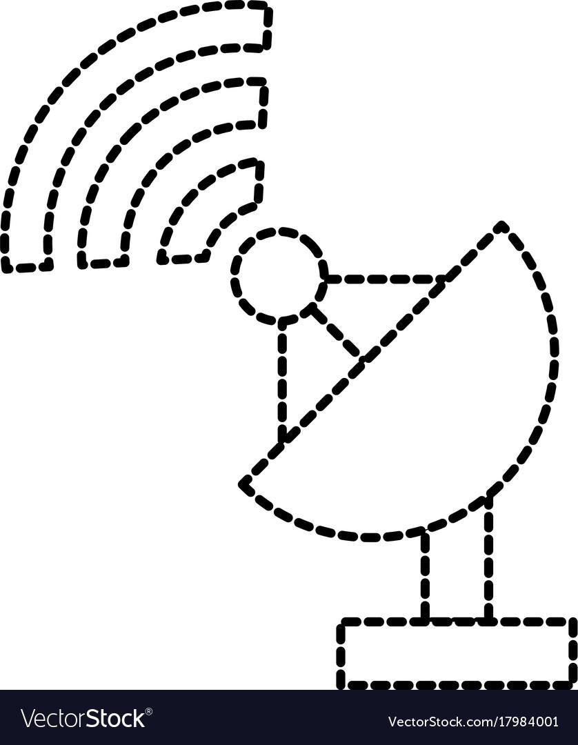 satellite antenna dish radar device equipment icon C-Band Satellite Antennas satellite antenna dish radar device equipment icon vector image