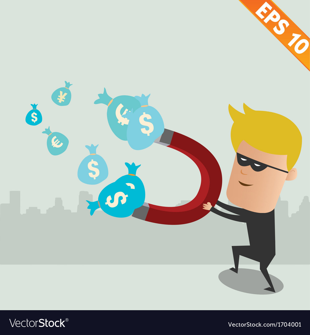 Thief steal money - - EPS10