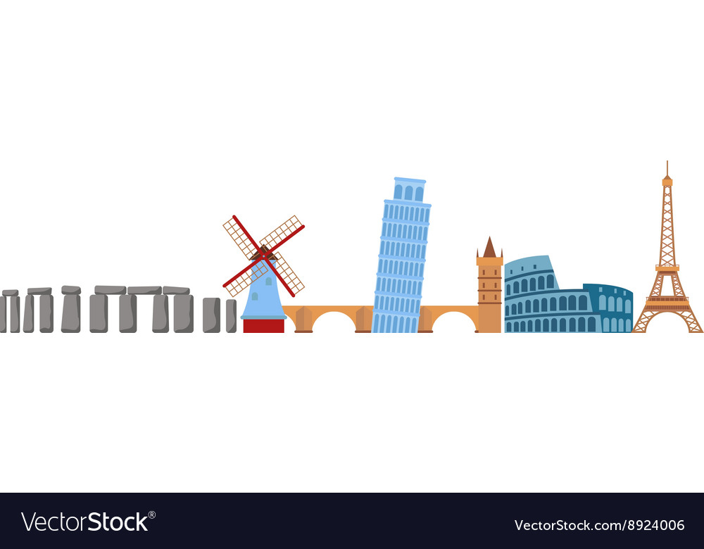 Europe travel vector image