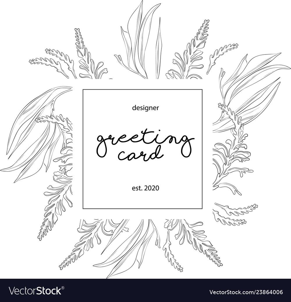 Minimalist Wedding Invitation Card Template Design