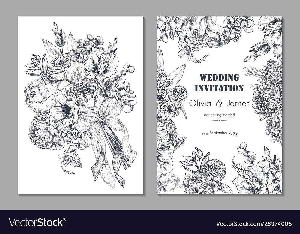 Set two banners with beautiful floral frame and