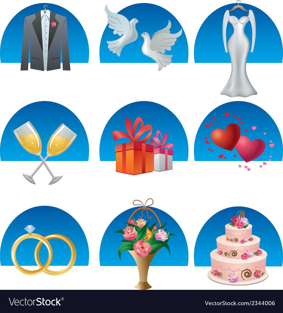 Wedding icon set2