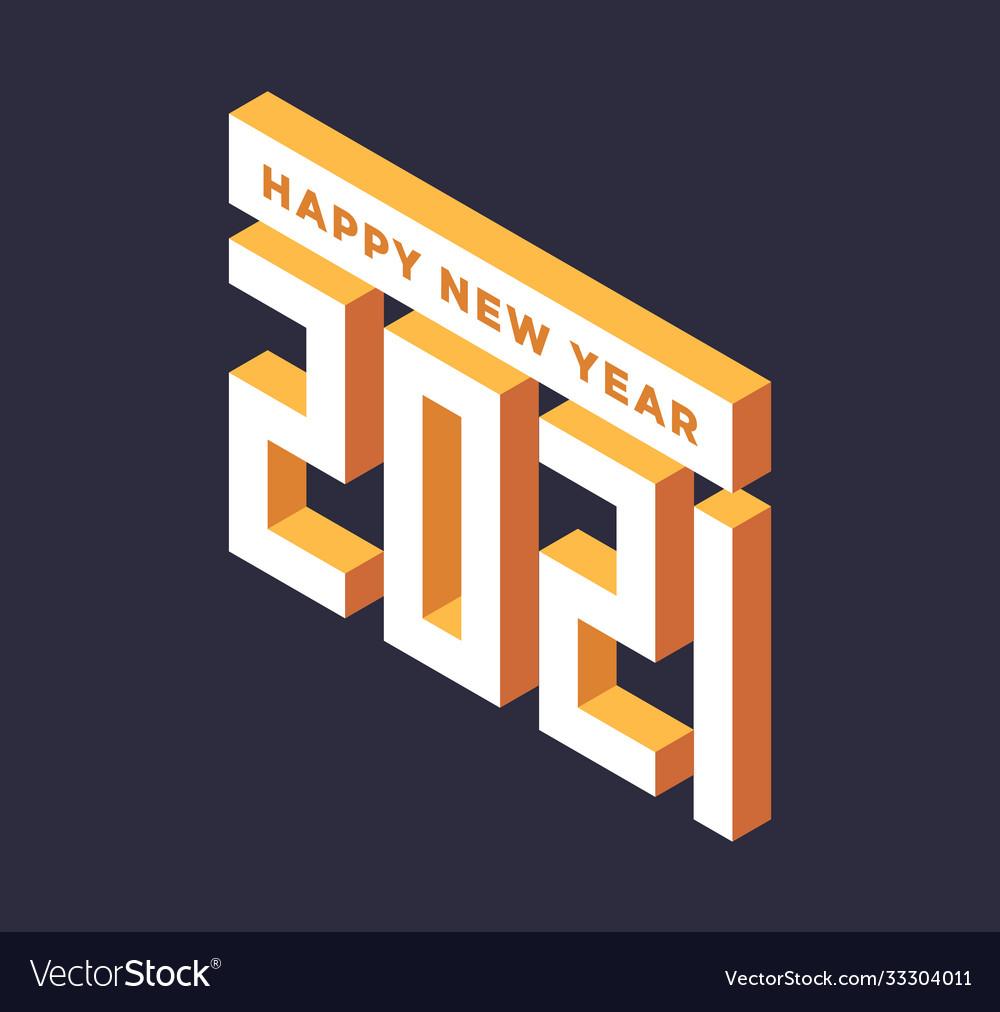 2021 new year isometric art minimal holiday