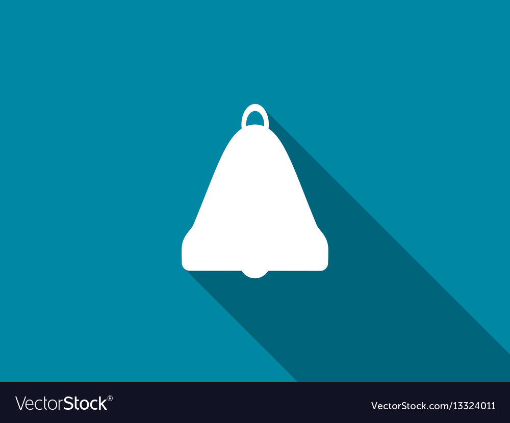 Bell with a long shadow vector image