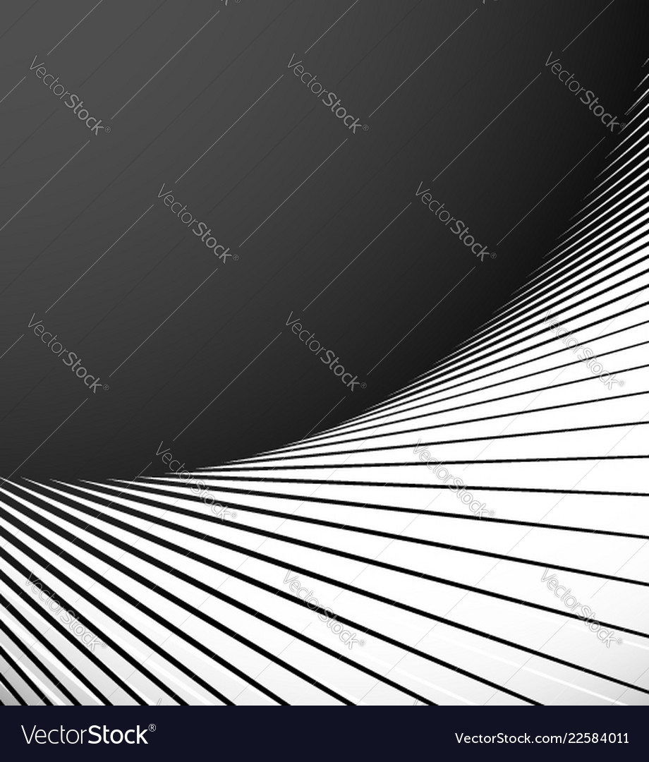 Geometric Element With Radial Lines Abstract Art