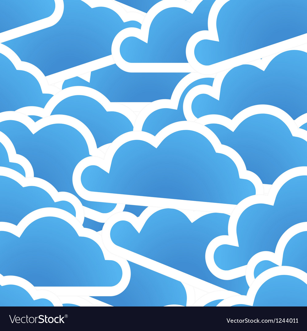 Group of blue clouds seamless background