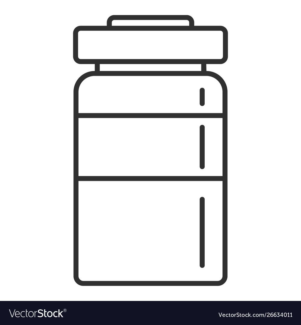 Injection bottle icon outline style