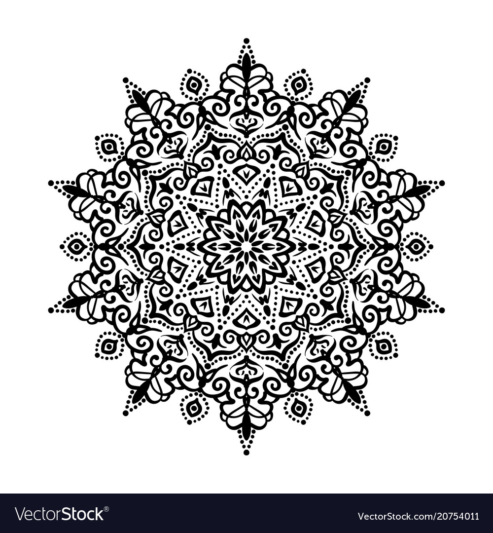 Mandala design element