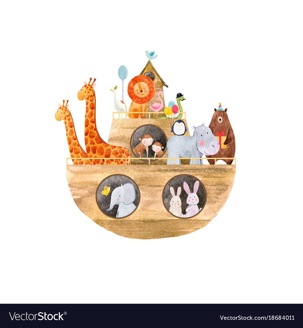 Watercolor banoah ark