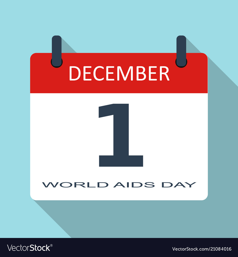 1 december world aids day flat daily cale