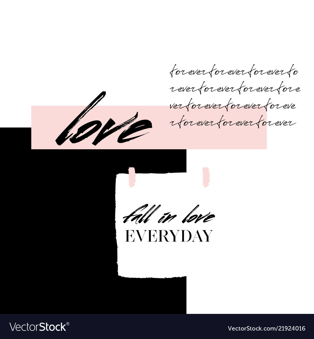 Abstract creative love collage abstract