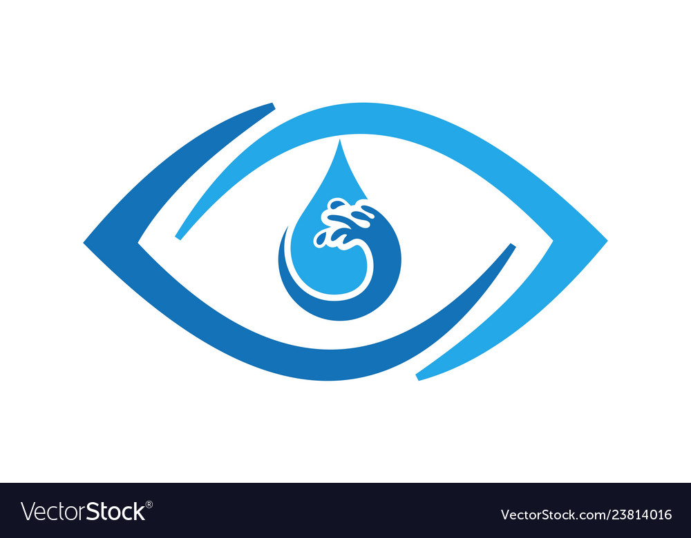 Abstract eye water icon logo