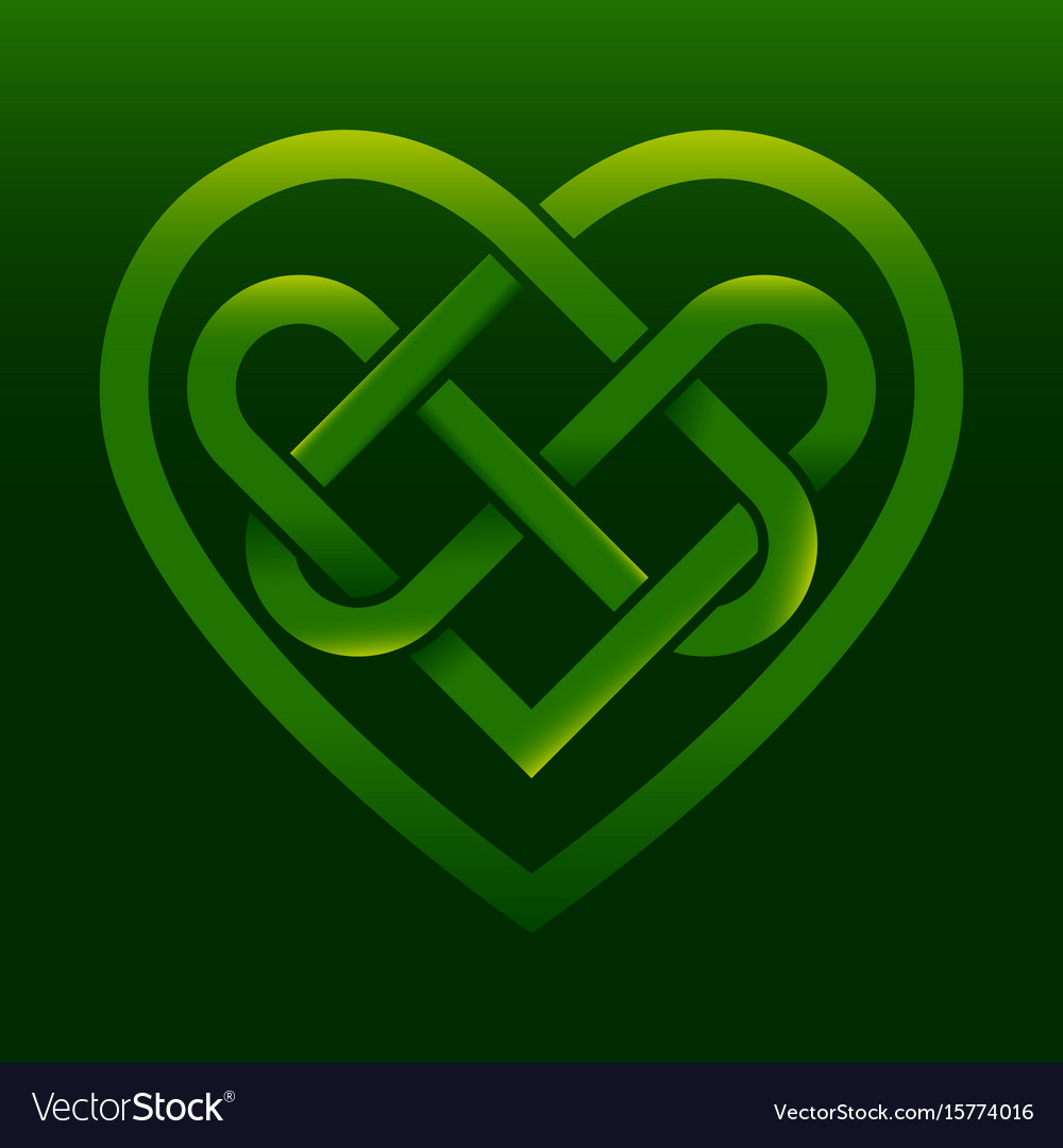 Celtic Knot Heart Royalty Free Vector Image Vectorstock