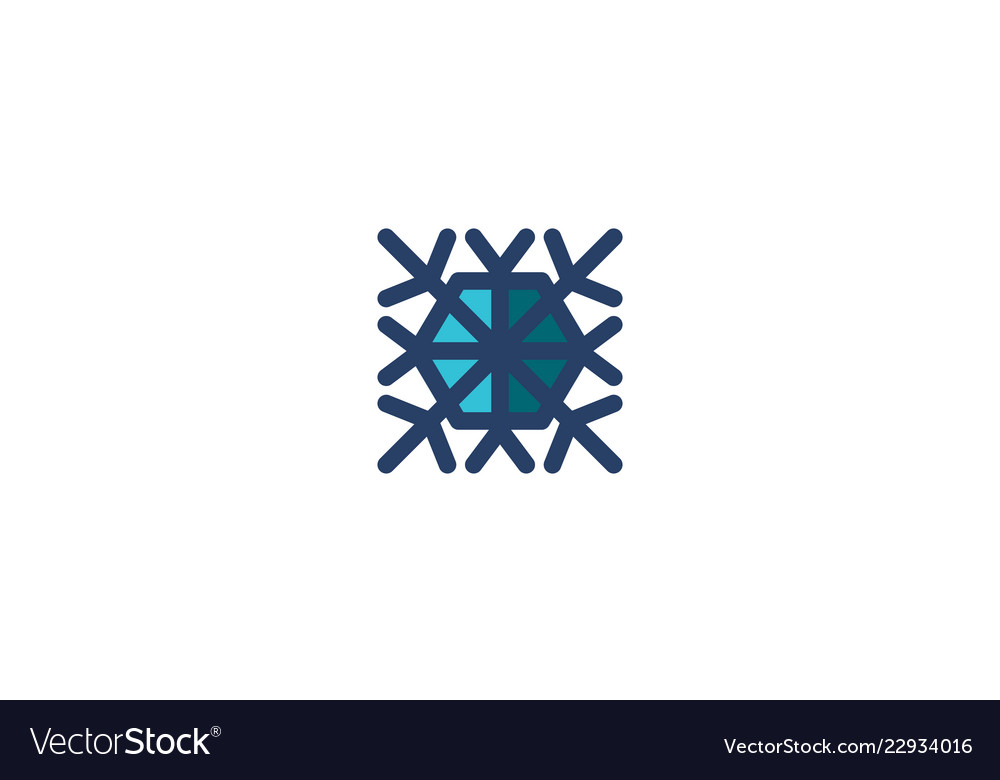 snowflake icon winter template royalty free vector image