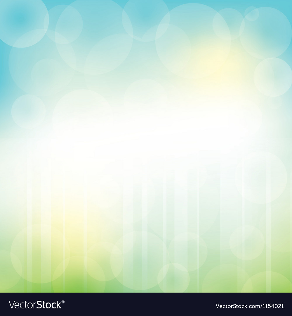 Abstract Green Blue Background with bokeh