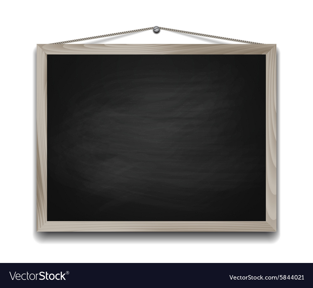 Black chalkboard in wooden frame