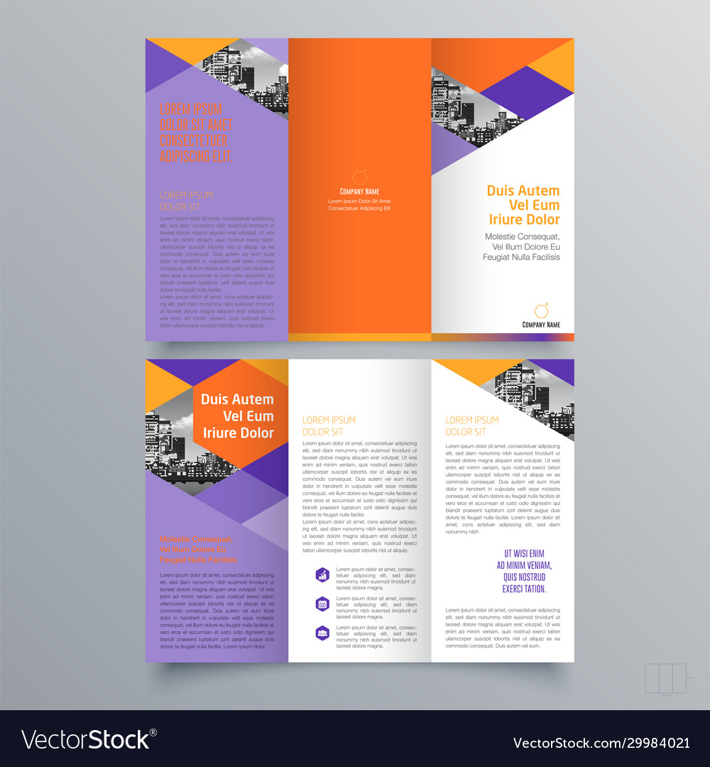 Brochure design 23 Royalty Free Vector Image Pertaining To Ngo Brochure Templates