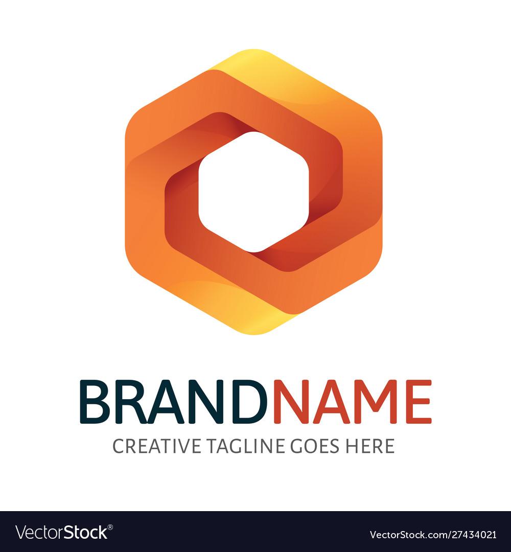 Dynamic hexagon logo
