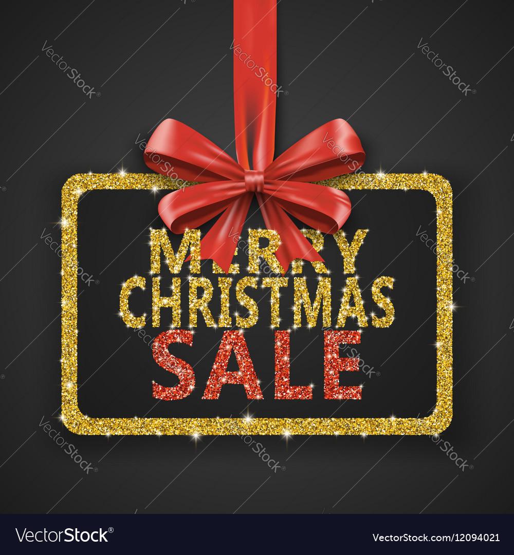Merry Christmas Sale shiny design template Xmas
