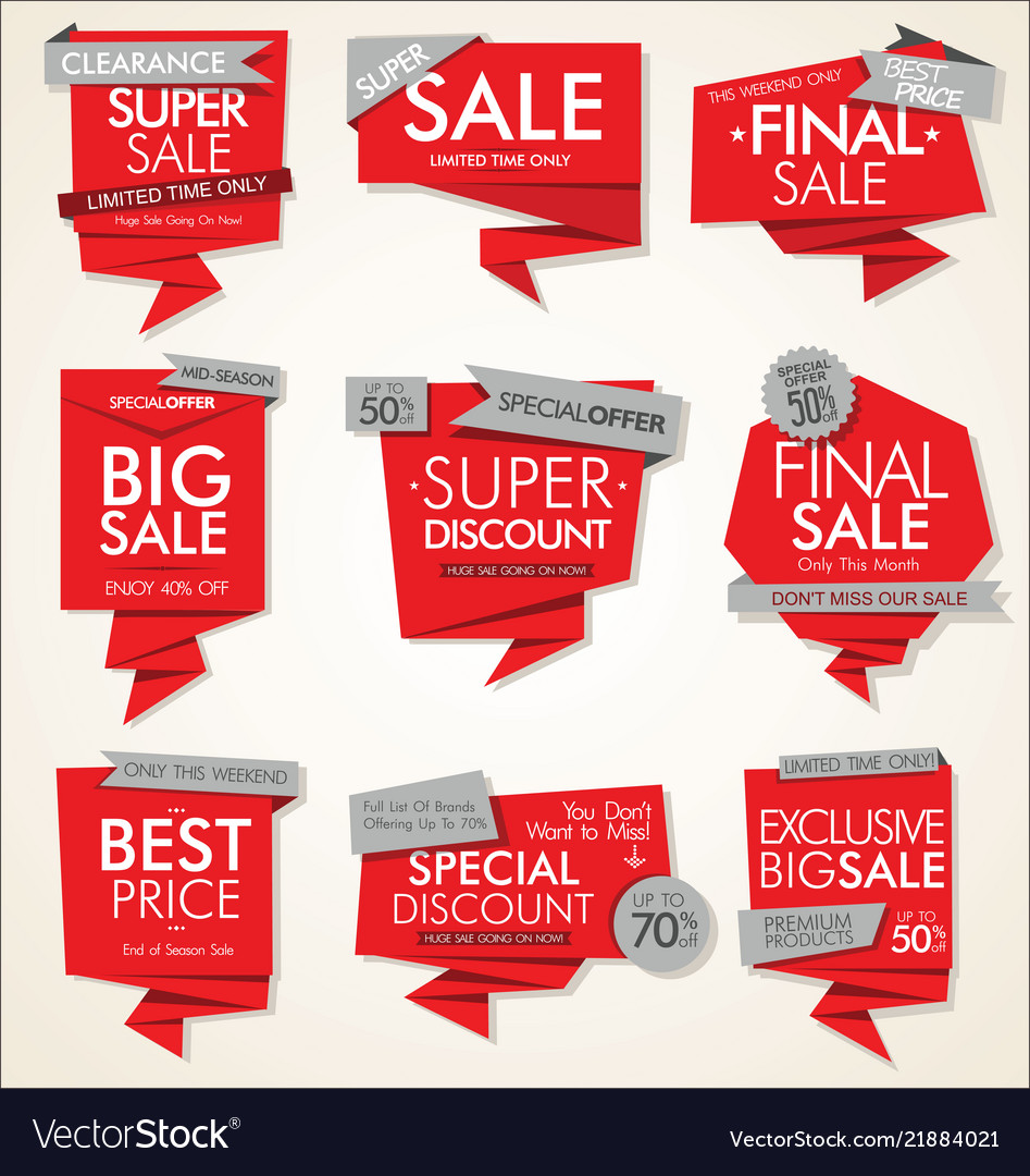 Modern sale banners and labels collection 01
