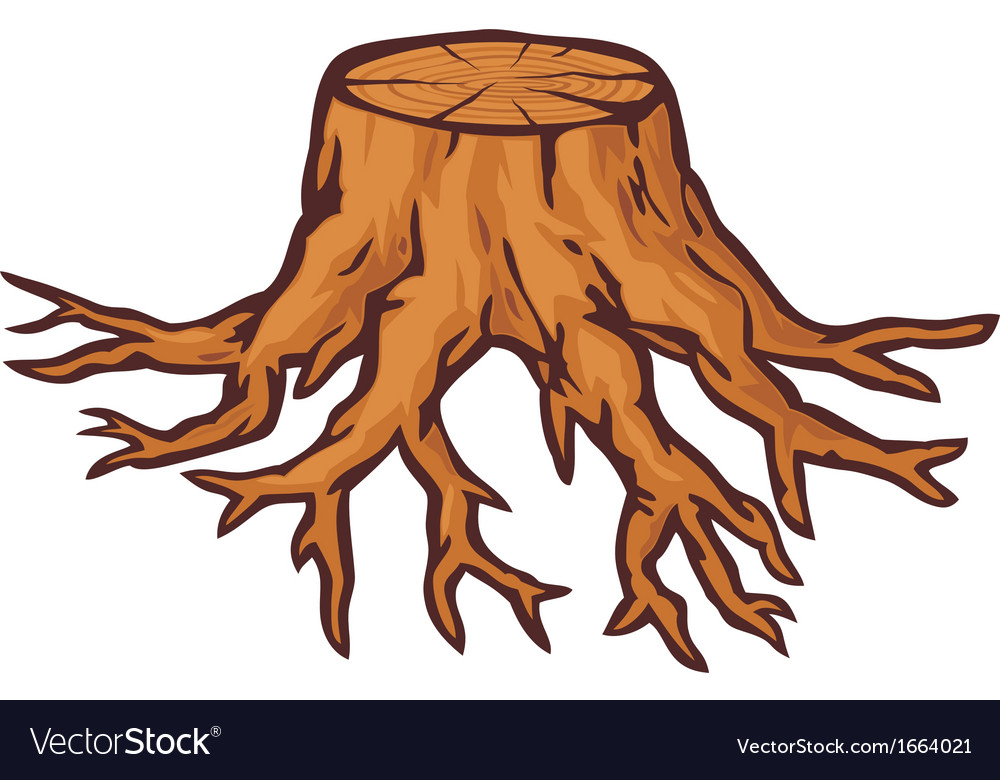 Old Tree Stump With Roots Royalty Free Vector Image 50,000+ vectors, stock photos & psd files. vectorstock
