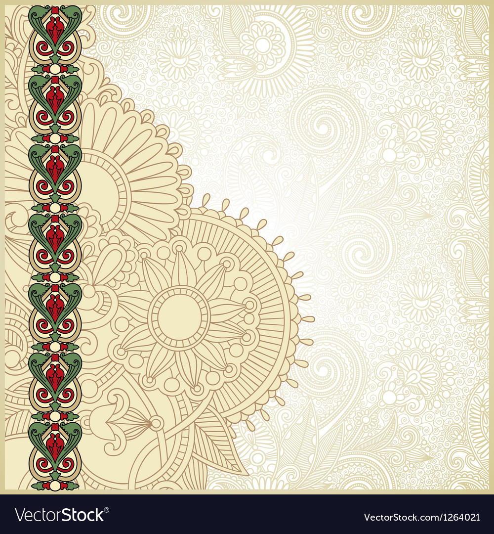 Ornate grunge vintage template vector image
