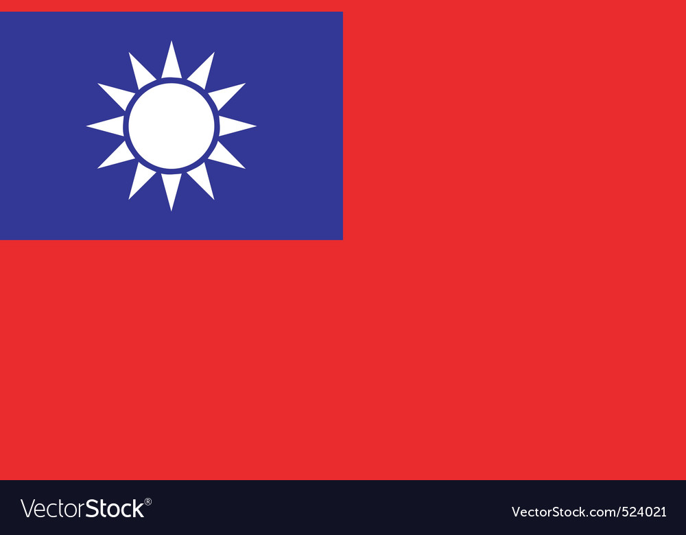 Republic of china flag vector image