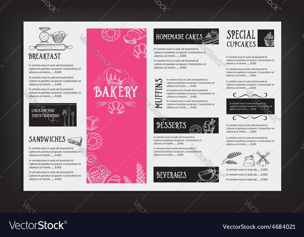 restaurant cafe menu template design food flyer vector image