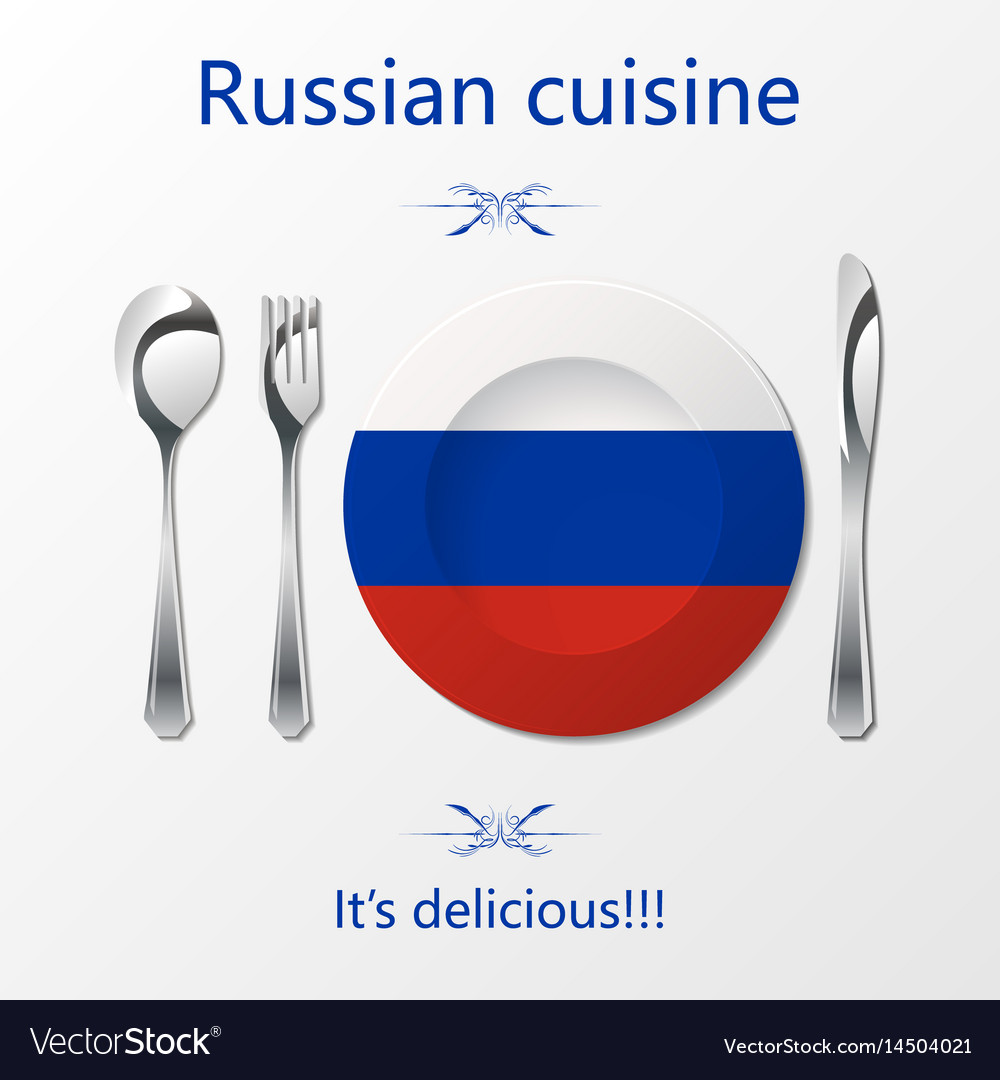 Russian cuisine cutlery