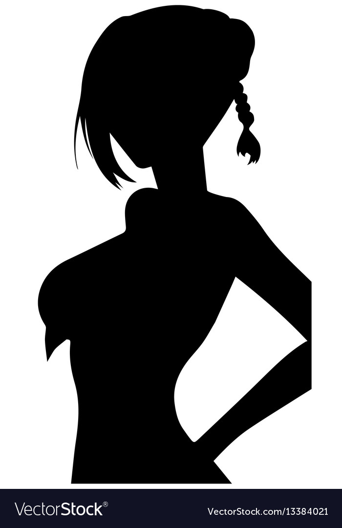 Women heads silhouettes eps 10 vector image