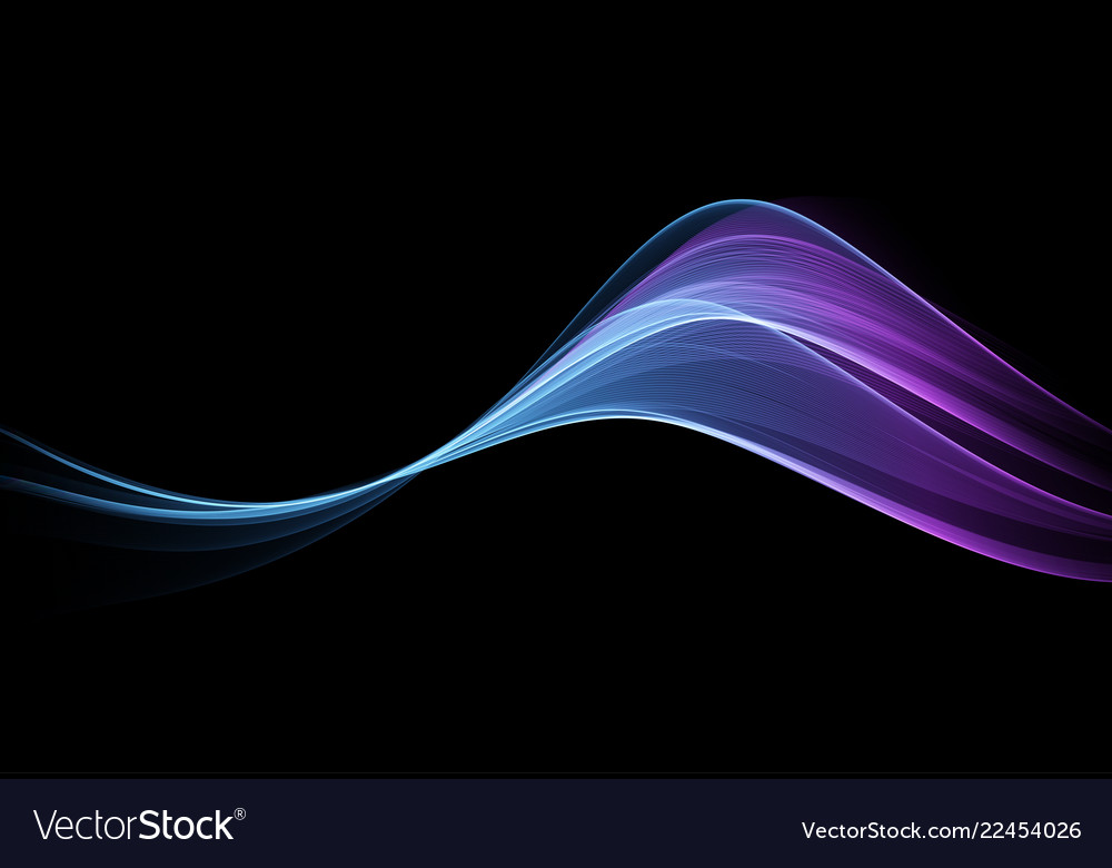 Abstract shiny color blue wave design