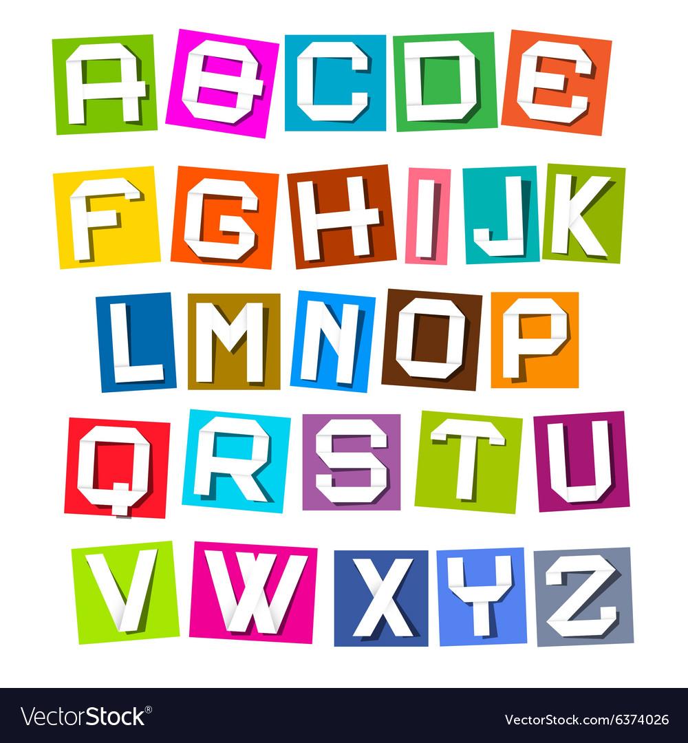 Alphabet - Colorful Paper Sheets