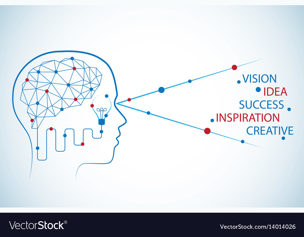 Brain polygon and human head business concept01