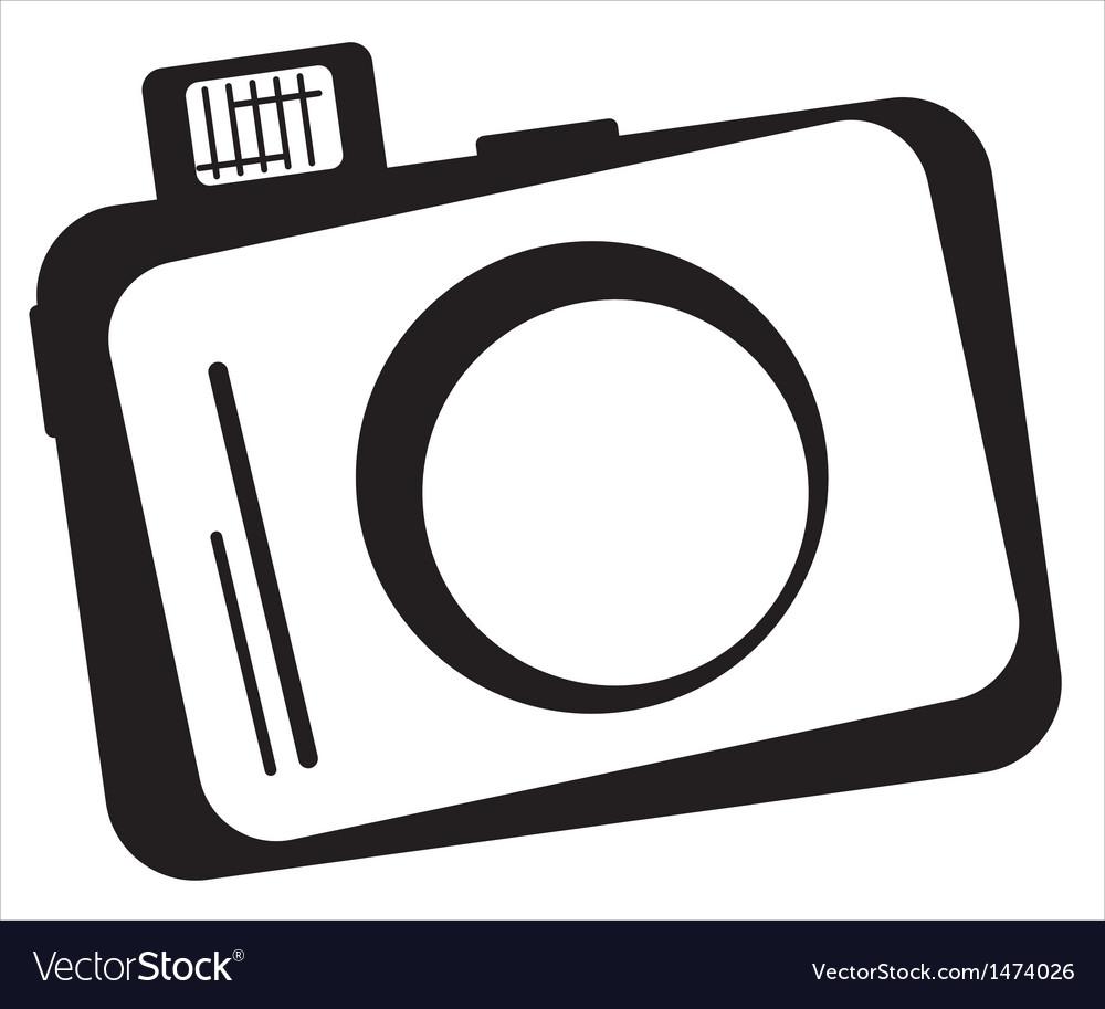 Camera design vector image