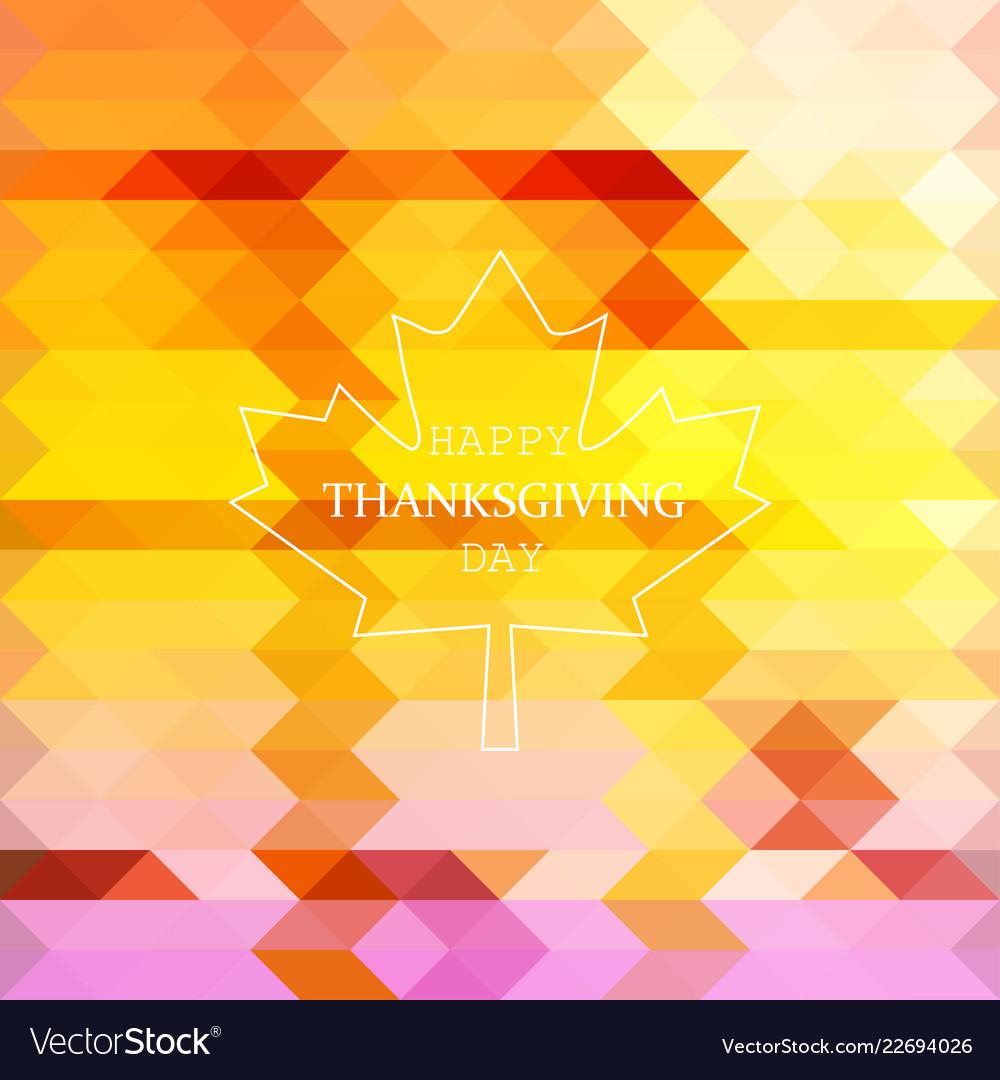 Flat design style happy thanksgiving day logotype