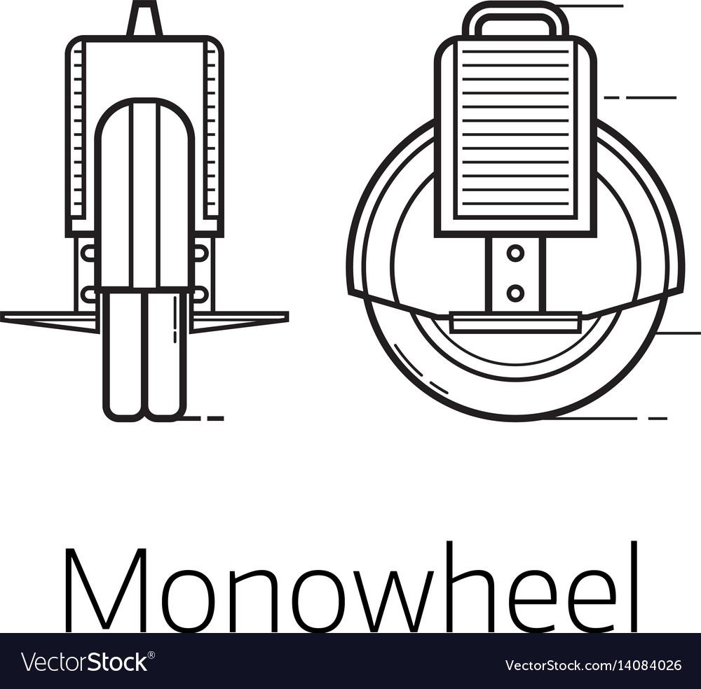 Monowheel alternative city transport vector image