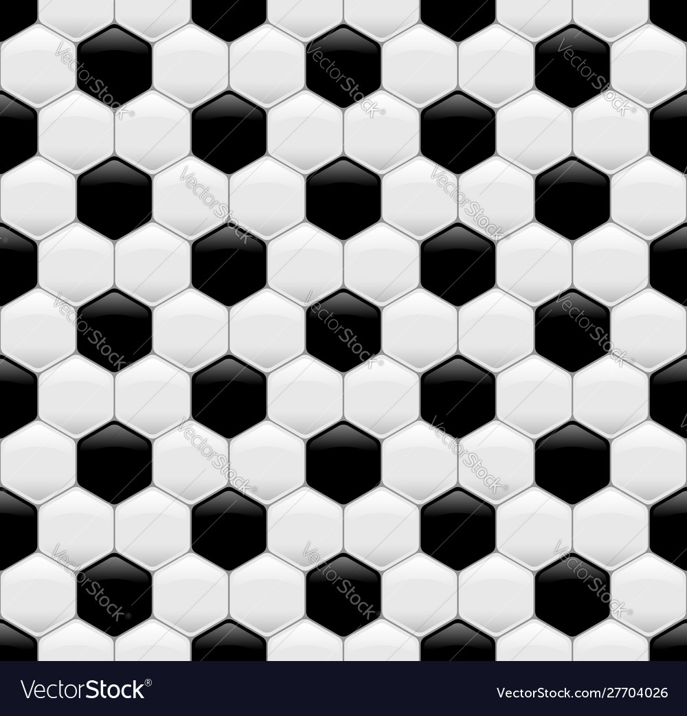Soccer ball seamless texture