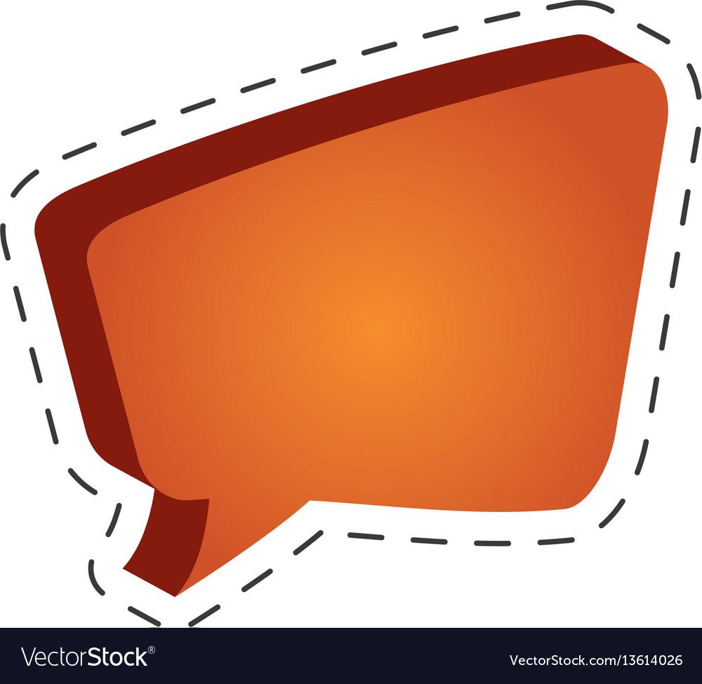 Speech bubble speak cut line