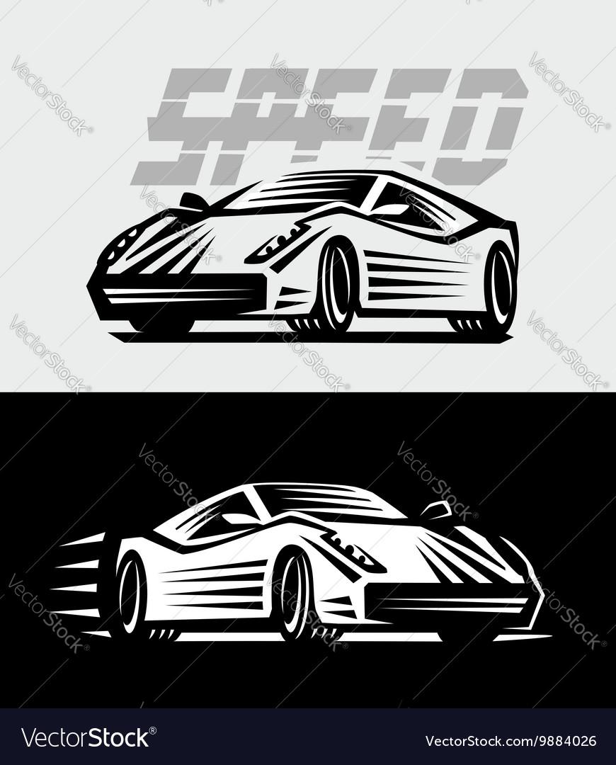 Sport Cars Emblem Royalty Free Vector Image Vectorstock