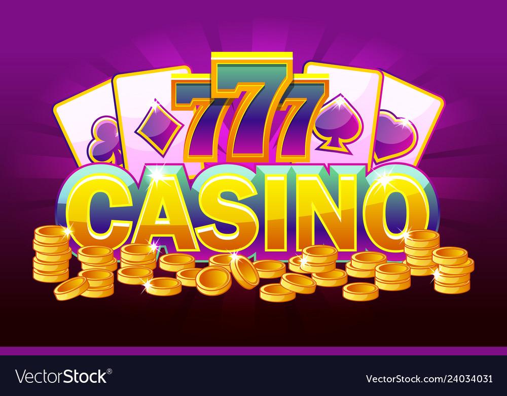 Casino banner symbols poker 777 playing cards