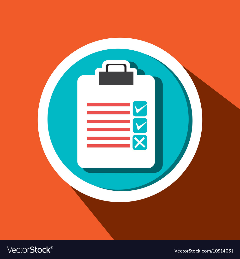 Clipboard check list icon