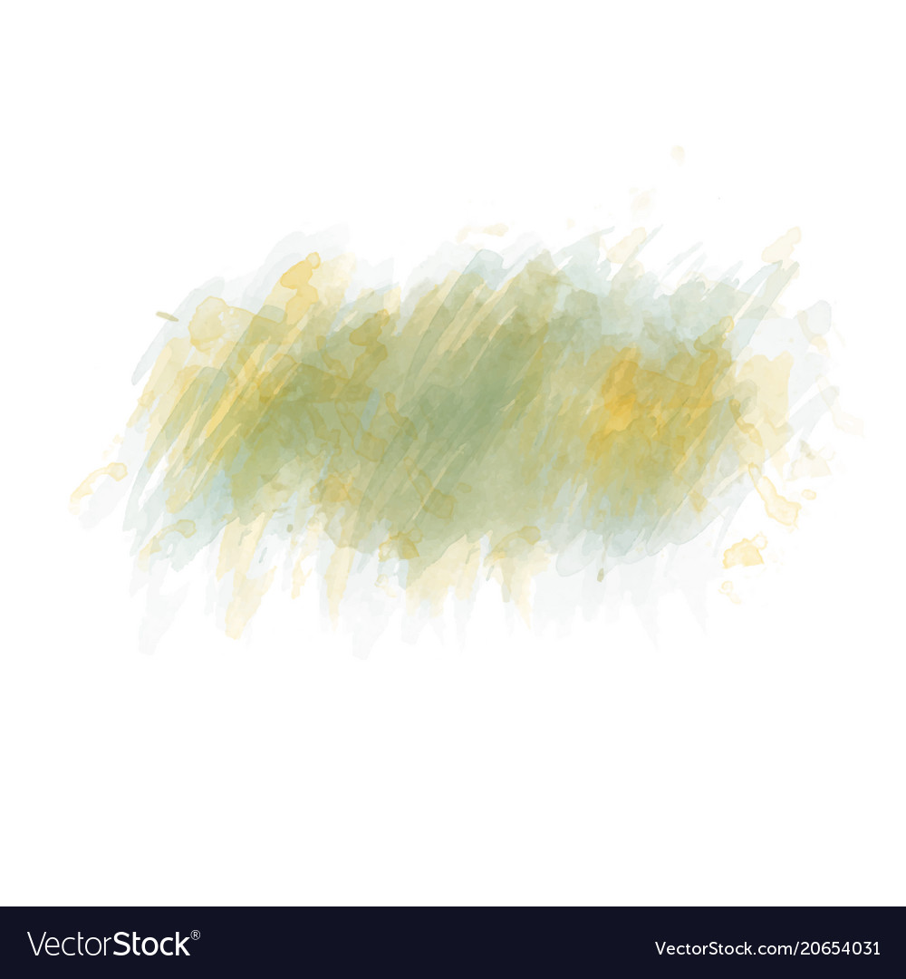 Green watercolor painted stain isolated on white vector image