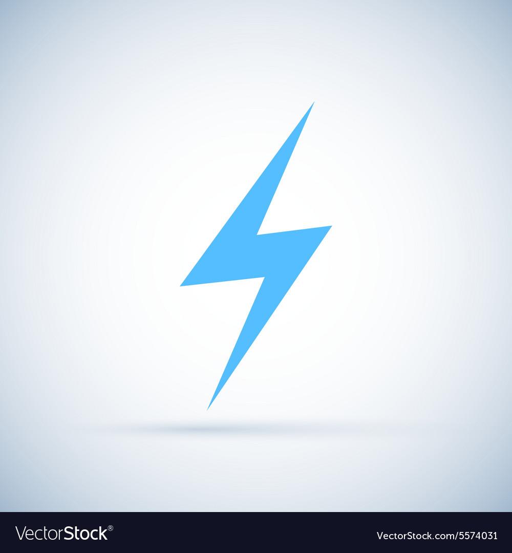 Lightning icon Isolated on white background