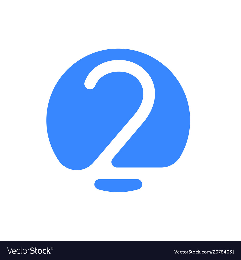 Number 2 two font logo blue icon